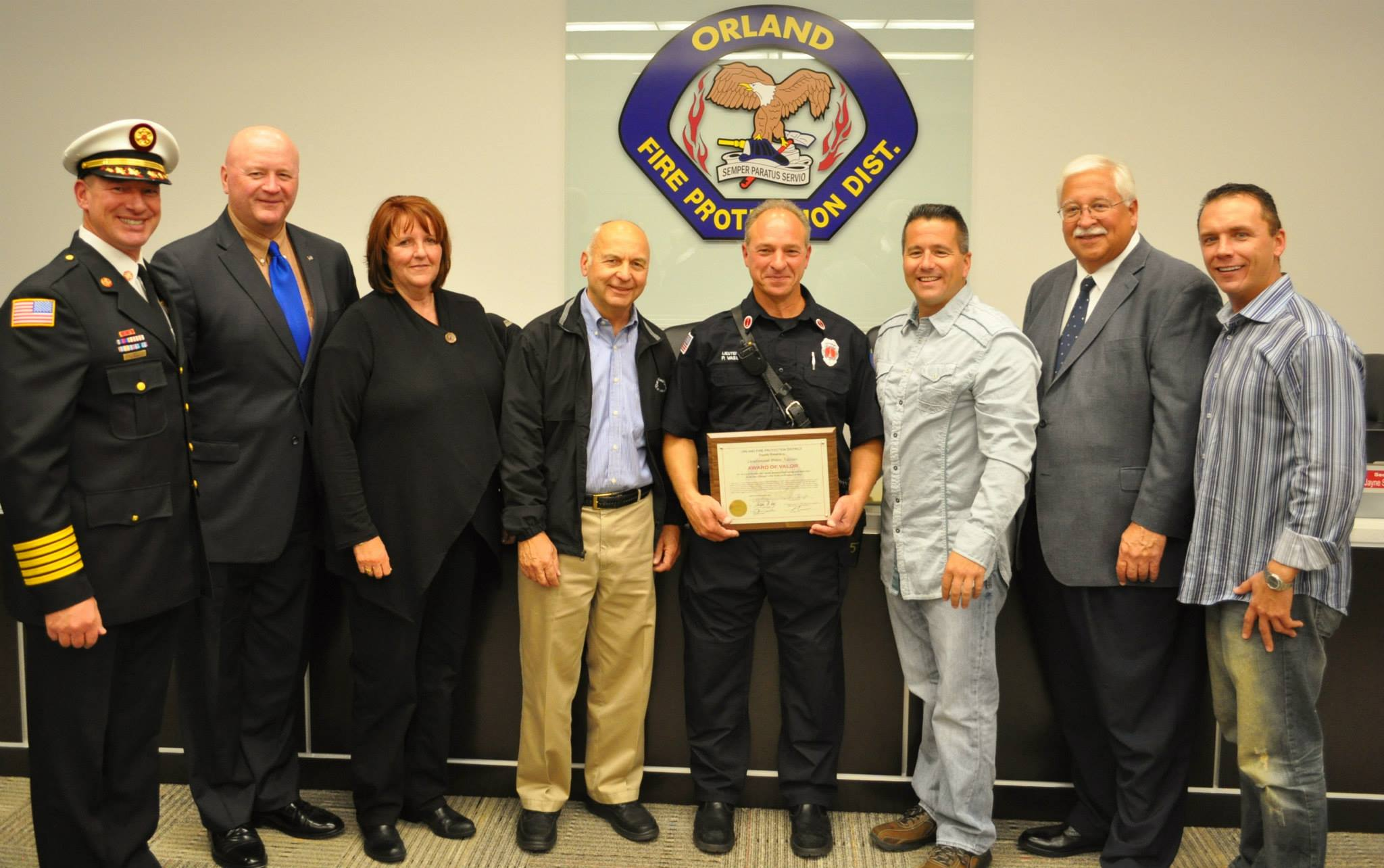 OFPD District honors firefighters for service and heroism