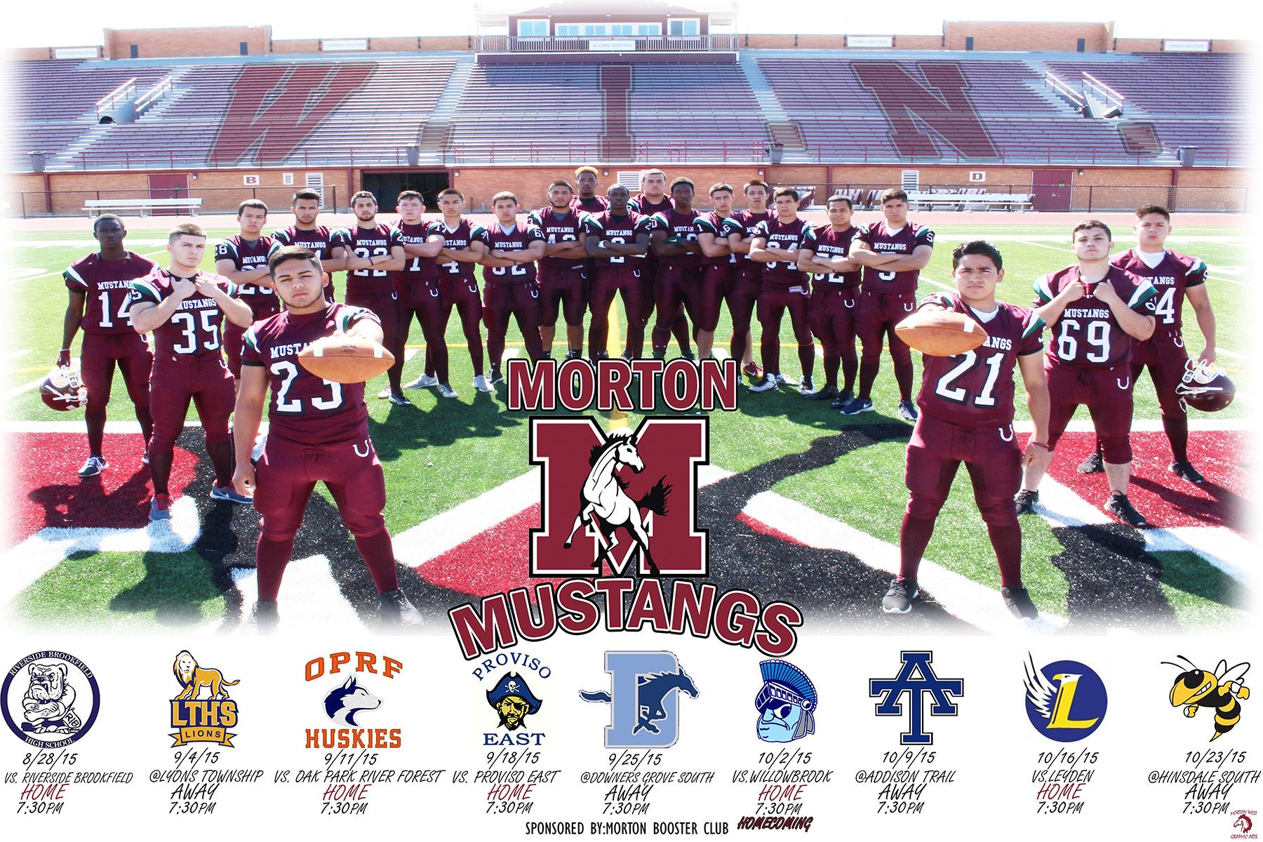 Morton Mustangs Football Releases 2015 Poster