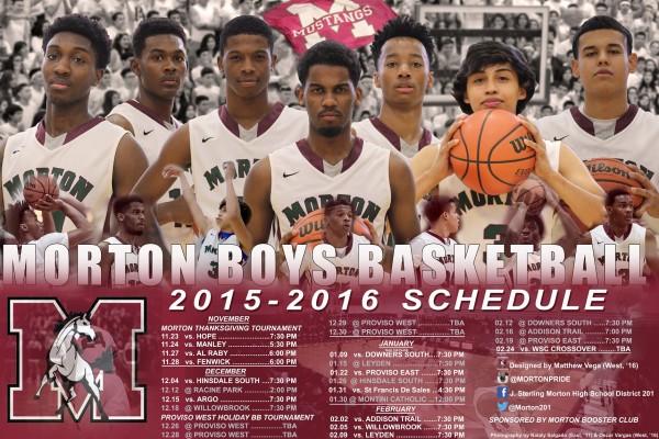 Morton 201's 2016 Boys Basketball Poster Arrives